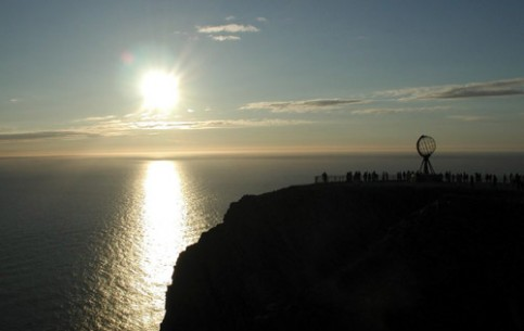 North Cape is one of the main attractions of Norway. From May 31 to July 31 one can observe midnight never-setting sun here