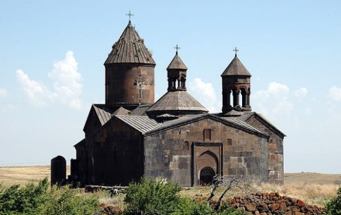 Saghmosavank Monastery or Monastery of Psalms was built in XII-XIII centuries by Vachutyan family. All buildings were restored after the earthquake of 1988 year