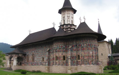 The ancient Romanian Sucevita Monastery is famous for unique frescoes and a rich collection of medieval art