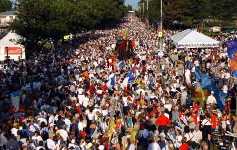 Caraquet:  New Brunswick:  Canada:      Acadian Tintamarre Festival in Caraquet