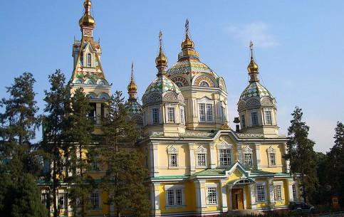 Almaty:  Kazakhstan:      Ascension Cathedral Almaty