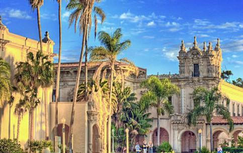 Сан-Диего:  Калифорния:  Соединённые Штаты Америки:      Бальбоа парк в Сан Диего