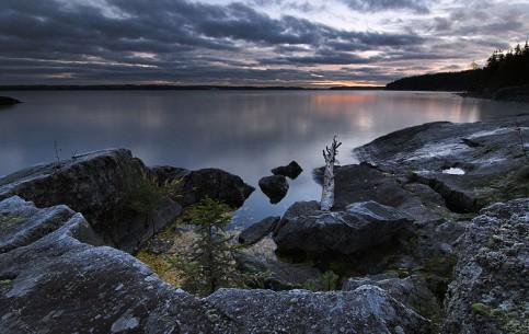 West Finland:  フィンランド:      Canoe tour on Lake Näsijärvi