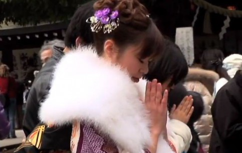 Tokyo:  Japan:      Coming of Age Day in Tokyo