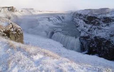冰岛:      古佛斯瀑布