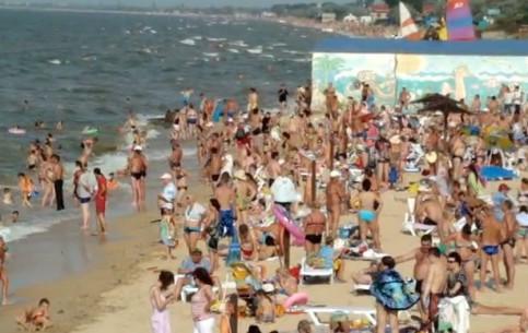 Голубицкая:  Краснодарский край:  Россия:      Голубицкая Центральный пляж