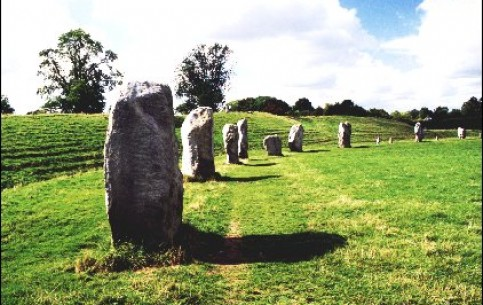 Avebury is the most ancient megalithic complex consisting of several huge stone circles, surrounding the village of Avebury in the English county of Wiltshir