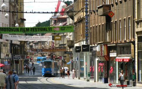 ザグレブ:  クロアチア:      Ilica Street