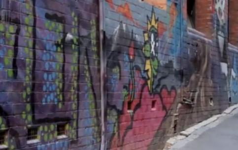 Мельбурн:  Австралия:      Уличное искусство в Мельбурне