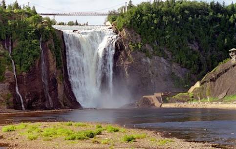 Quebec:  Canada:      Montmorency Falls