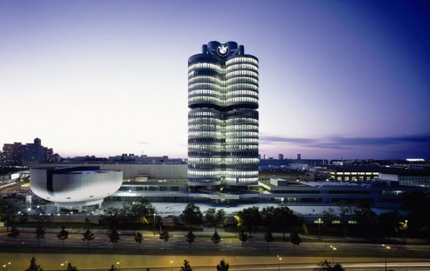 In BMW Museum, located in bowl-building by Karl Schwanzer near the