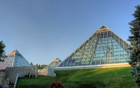 Edmonton:  Alberta:  Canada:      Muttart Conservatory of Edmonton