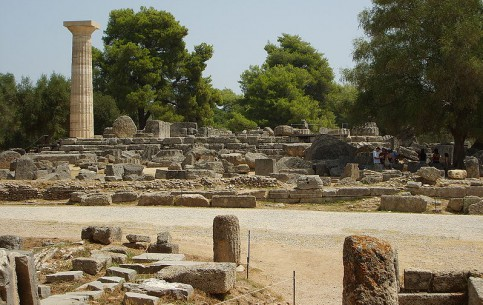 اليونان:  بيلوبونيز:      أوليمبيا (مدينة)