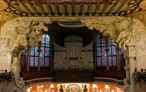 Барселона:  Каталония:  Испания:      Дворец каталонской музыки