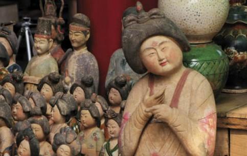 Пекин:  Китай:      Антикварный рынок Паньцзяюань