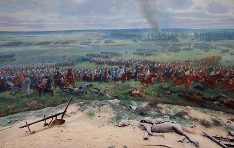 ワーテルロー:  ベルギー:      Panorama of Waterloo