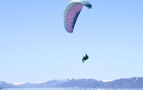 Greenland:  Denmark:      Paragliding in Greenland