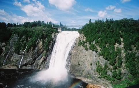 Quebec City:  Quebec:  Canada:      Parc de la Chute-Montmorency falls