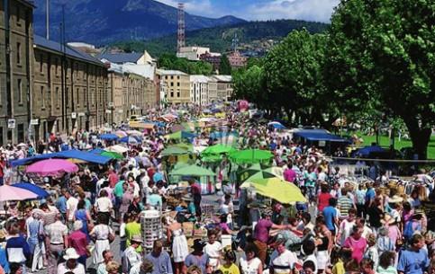 Hobart:  Australia:      Salamanca Market