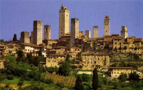 托斯卡纳:  意大利:      San Gimignano