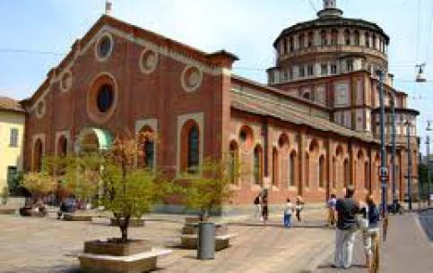 Флоренция:  Милан:  Италия:      Санта-Мария-делле-Грацие