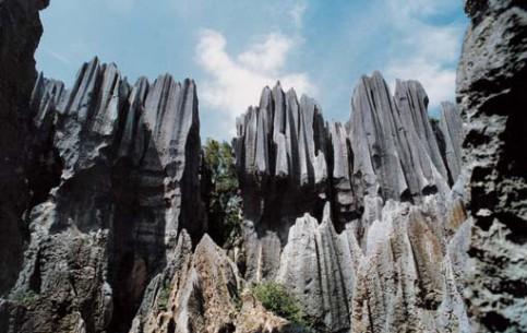 Куньмин:  Китай:      Каменный лес Шилинь
