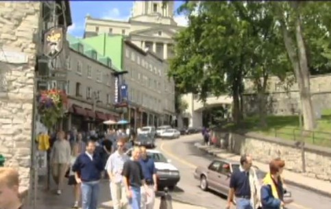 Quebec City:  Quebec:  Canada:      Summertime in Quebec