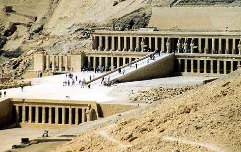 Луксор:  Нубия:  Египет:      Храм Хатшепсут