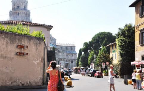 Пиза:  Умбрия:  Тоскана:  Италия:      Прогулка к Пизанской башне