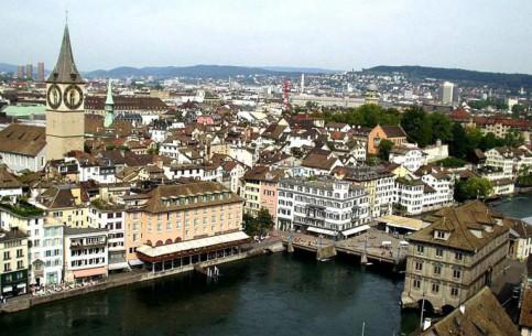 Цюрих:  Швейцария:      Центр Цюриха
