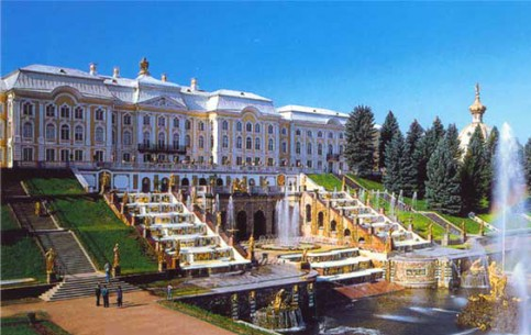 Petrodvorets - Peterhof was erected as a royal residence by order of Peter the Great in 1710's. The park ensemble need no advertising – fountains of Peterhof are unparalleled!