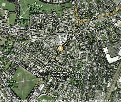 map: Anglia Ruskin University in Cambridge