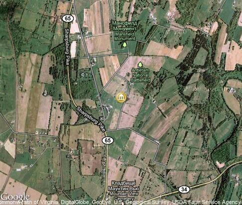 map: Antietam National Battlefield Memorial