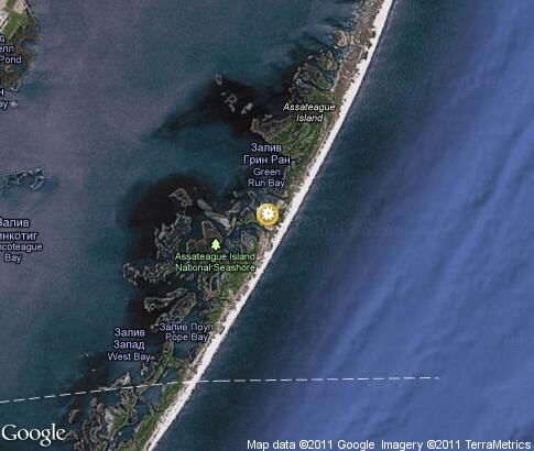map: Assateague Island National Seashore
