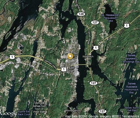 Bath Video Popular Tourist Places Satellite Map Maine United States