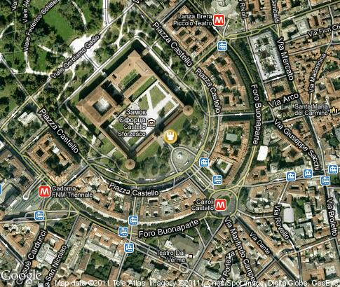 map: Castello Sforzesco