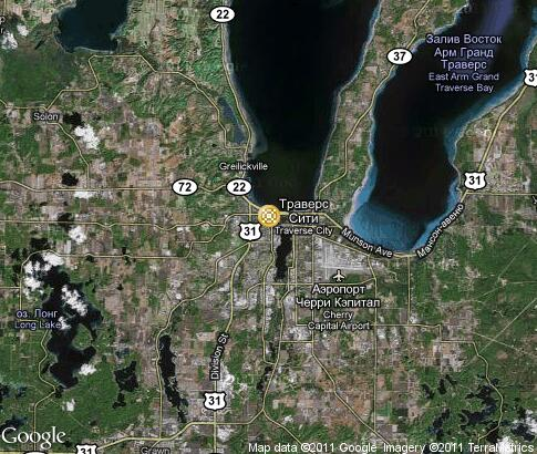 map: Cherry Festival in Traverse City