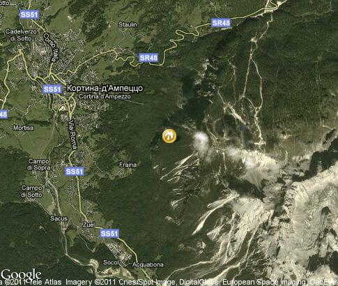 map: Cortina d`Ampezzo, winter resort