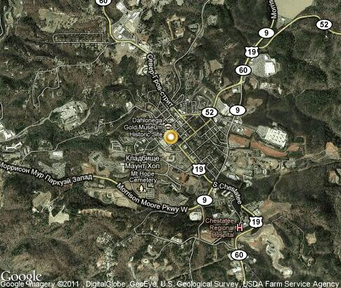 map: Dahlonega