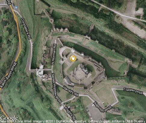 Dover Castle Video Popular Tourist Places Satellite Map