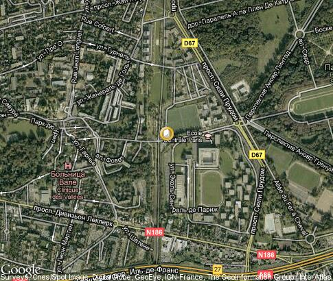 map: Ecole Centrale Paris