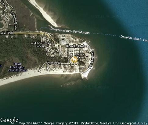 map: Estuarium, Dauphin Island Sea Lab