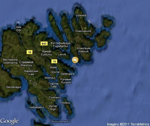 map: Faroe Islands, Diving and Fishing
