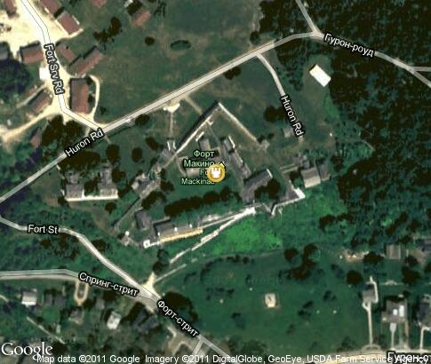 map: Fort Mackinac