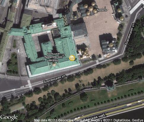 map: Georgievsky Hall, Grand Kremlin Palace