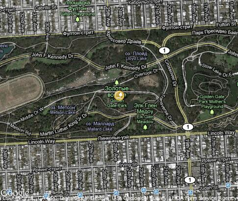 map: Golden Gate Park