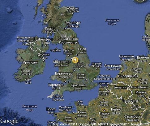 map: Great Britain tours
