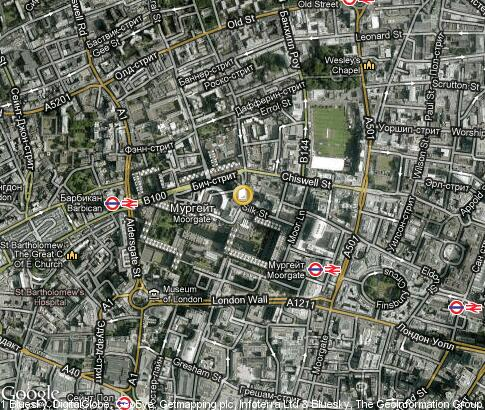 map: Guildhall School of Music and Drama