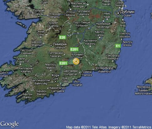 map: Ireland, South East