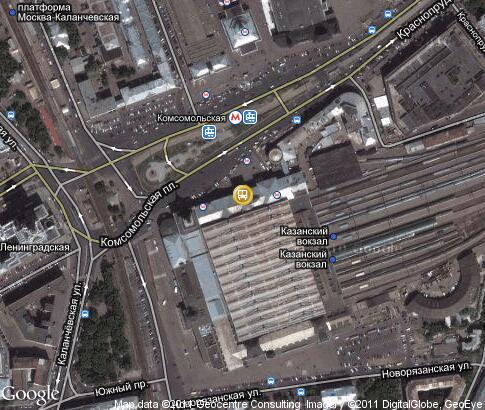 map: Kazansky Rail Terminal